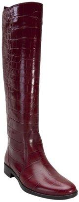 Lanvin crocodile skin stamped boot