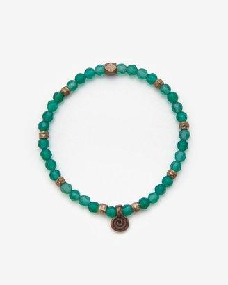 Momentz Monte-carlo Beaded Stretch Bracelet: Green