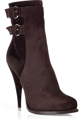 Givenchy Brown Suede Buckled Boots