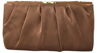 Nina 'Larry' Satin Clutch - Brown $58 thestylecure.com