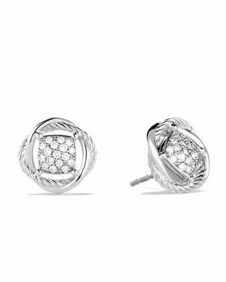 David Yurman Infinity Earrings with Diamonds