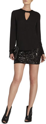 BCBGMAXAZRIA Paxton Deco Sequin-Applique Mini Skirt