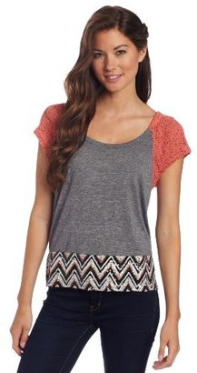 Miss Me Juniors Chevron V-Back Top