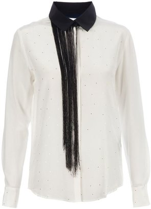 Sharon Wauchob contrast fringe shirt
