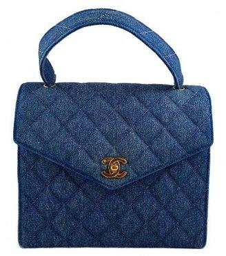 Chanel excellent (EX Denim Medium Classic 2.55 Kelly Bag