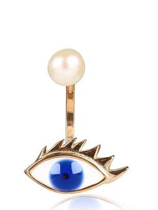 Delfina Delettrez Eye And Pearl Earrings