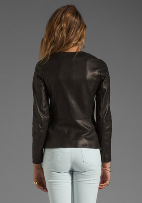 Theory Ford Enora Lamb Leather Jacket