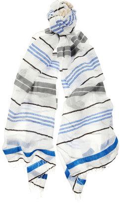 Lemlem Dehina Beehive cotton-blend voile scarf