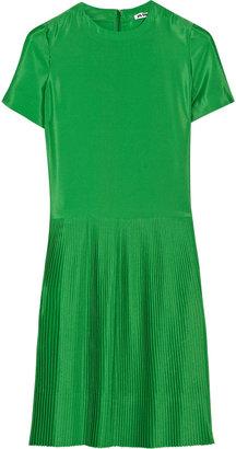 Jil Sander Pleated crepe dress