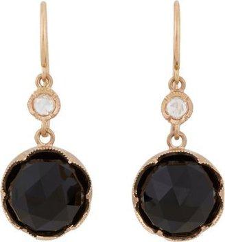 Irene Neuwirth Black Onyx & Diamond Drop Earrings