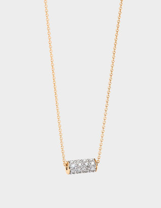 ginette_ny Mini Straw Diamond 18-karat rose gold necklace