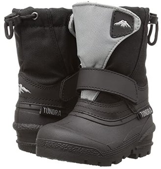 Tundra Boots Kids Quebec (Toddler/Little Kid/Big Kid) (Black/Grey) Boys Shoes