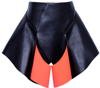 Dion Lee Preorder Falling Disc Leather Skirt