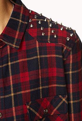 Forever 21 High-Voltage Plaid Shirt