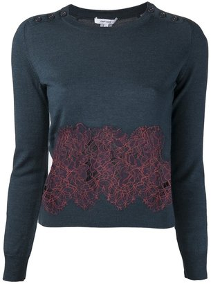 Carven lace panel sweater