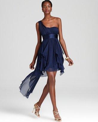 ABS by Allen Schwartz One Shoulder Dress - Hi Lo Handkerchief