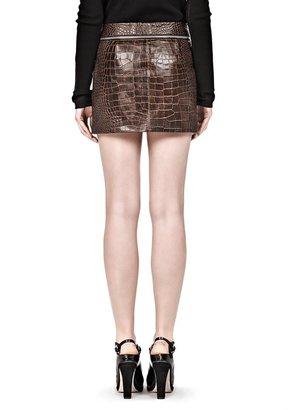 Alexander Wang Mini Skirt With Zipper Waistband Detail