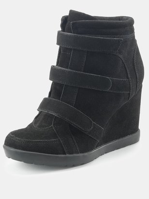 Love Label Black Trainer Wedges - Stewart