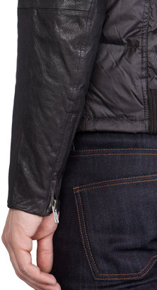 Diesel Ken Leather Puffer Jacket