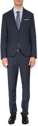 Neil Barrett Navy Striped Wool Slim Fit Blazer