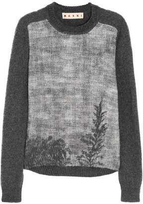 Marni Treescape printed knitted sweater