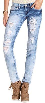 Charlotte Russe Machine Jeans Marble Wash Skinny Jean