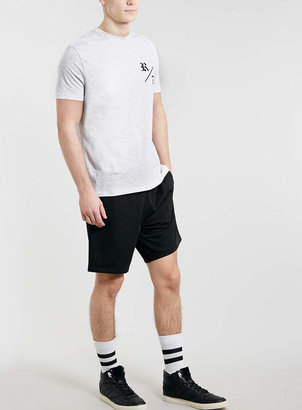 Topman Grey R/7 Front And Back Print T-Shirt