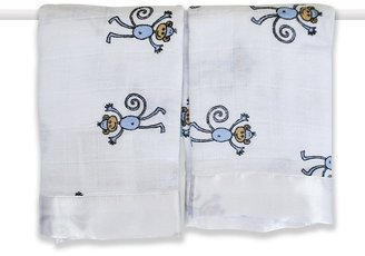 Aden Anais Aden + Anais Monkey Muslin Security Blankets, Set of 2