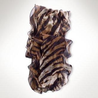 Ralph Lauren Animal-Print Silk Scarf