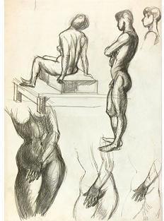 STUDY Maps and Art Nude Figure Study, 1950