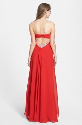 Faviana Jeweled Layered Chiffon Gown (Online Exclusive)