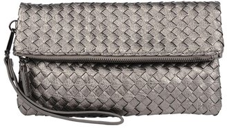 Urban Expressions Woven Fold Over Clutch