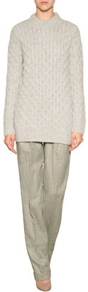 Michael Kors Collection Wool-Cashmere Pleated Front Pants
