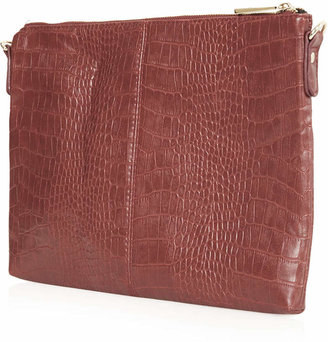 Topshop Croc Clutch Bag