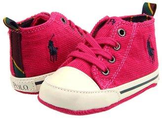 Ralph Lauren University Hi (Infant) (Aruba Pink Corduroy) - Footwear