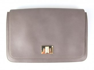 Pucci pristine (PR Taupe Leather Large Clutch Flap Bag