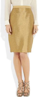 Just Cavalli Metallic-twill pencil skirt