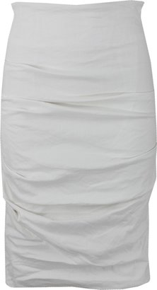 Nicole Miller Ruched Pencil Skirt