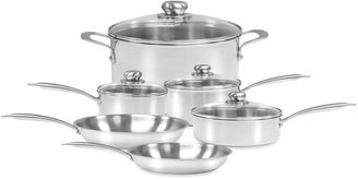 Zwilling J.A. Henckels Steel Clad Stainless Steel 10-Piece Cookware Set and Open Stock