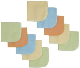 Gerber 10PK Washcloth - Multicolor-One Size-Neutral