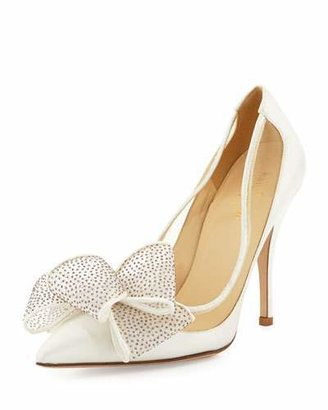 Kate Spade New York Lovely Satin Bow Pump, Ivory $350 thestylecure.com
