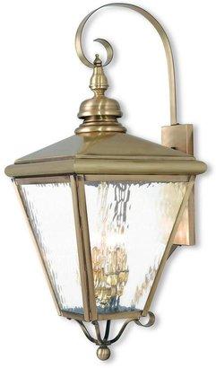 Livex Lighting Cambridge 4-Light Antique Brass Outdoor Wall Mount Lantern