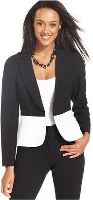 Amy Byer Jacket, Colorblocked Open-Front Blazer