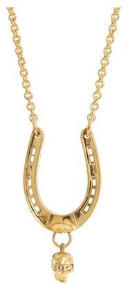 Alexander McQueen Horseshoe Pendent Ottone (Sw.Cry.Gold) - Jewelry