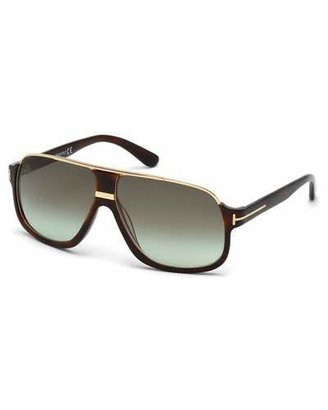 TOM FORD Elliot Acetate Sunglasses, Brown $415 thestylecure.com
