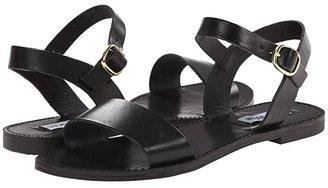 Steve Madden Donddi Sandal (Black Leather) Women's Sandals