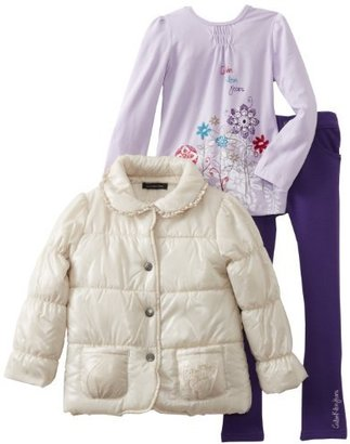 Calvin Klein Girls 2-6X Puffy Jacket With Tee And Jean