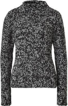 Belstaff Black and Grey Knit Turtleneck Clare Pullover