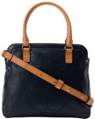 Orla Kiely Structured Stem Leather Small Shoulder Bag