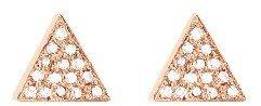 Jennifer Meyer Diamond Triangle Studs - Rose Gold